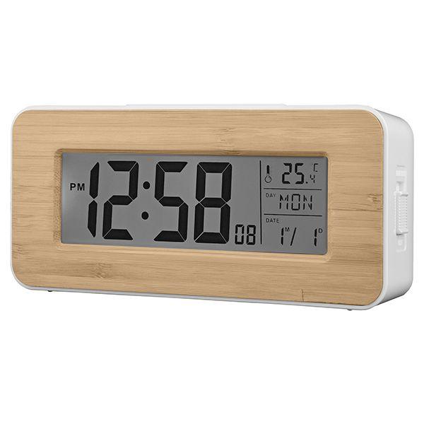 Acctim Otto Alarm Clock Bamboo