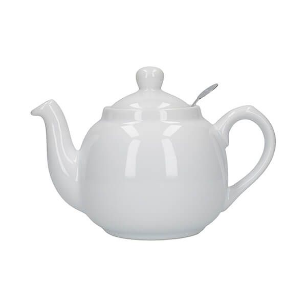 London Pottery Farmhouse Filter 2 Cup Teapot White