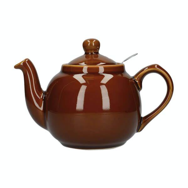 London Pottery Farmhouse Filter 2 Cup Teapot Rockingham Brown