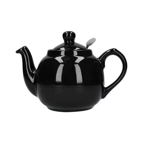 London Pottery Farmhouse Filter 2 Cup Teapot Gloss Black