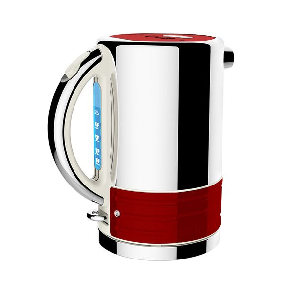 Dualit Architect Canvas and Apple Candy Red Kettle