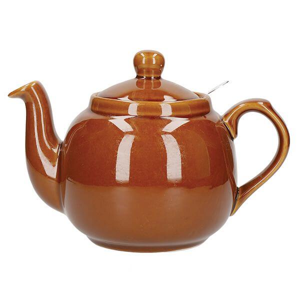 London Pottery Farmhouse Filter 4 Cup Teapot Rockingham Brown