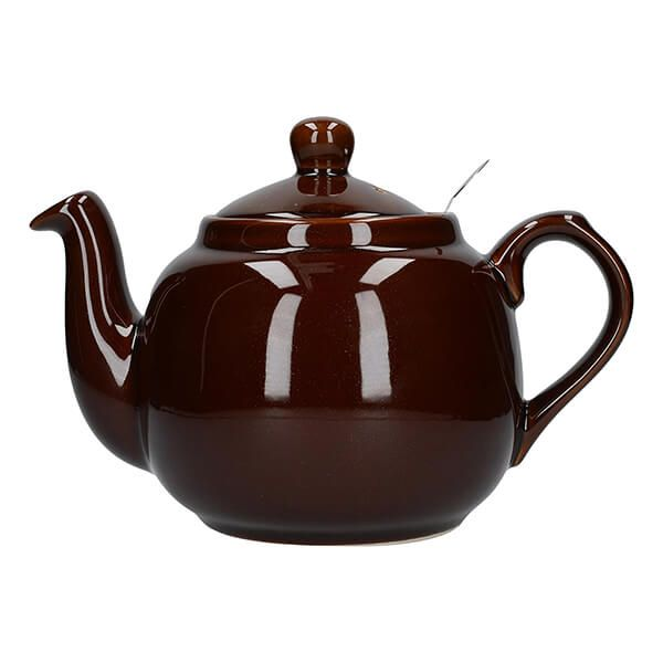 London Pottery Farmhouse Filter 4 Cup Teapot Rockingham Brown