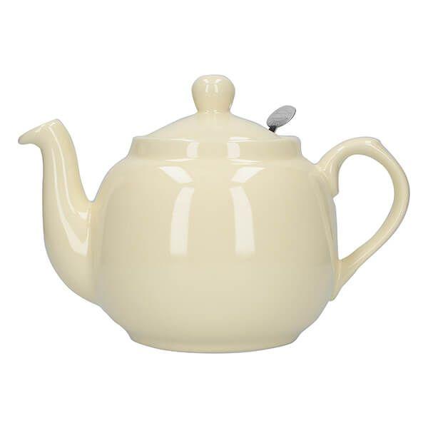London Pottery Farmhouse Filter 4 Cup Teapot Ivory