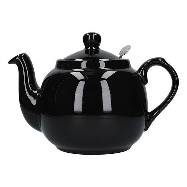London Pottery Farmhouse Filter 4 Cup Teapot Gloss Black