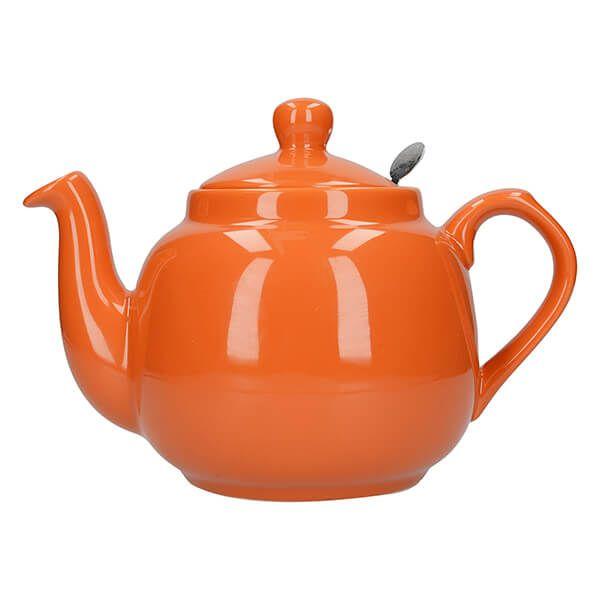 London Pottery Farmhouse Filter 4 Cup Teapot Orange