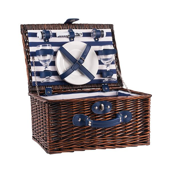Navigate Coast 2 Person Wicker Picnic Basket