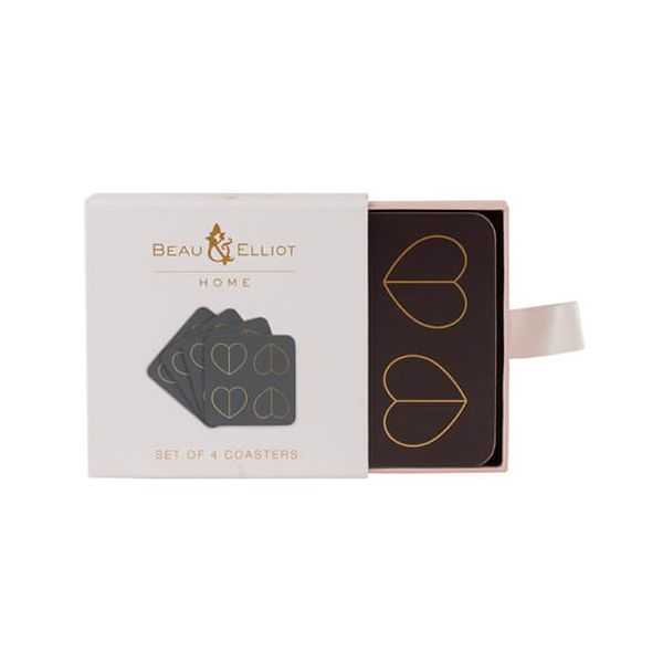 Beau & Elliot Champagne Edit Dove Set of 4 Coasters