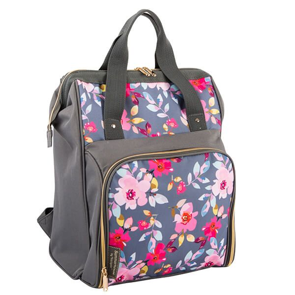 Navigate Gardenia 2 Person Backpack Grey Floral