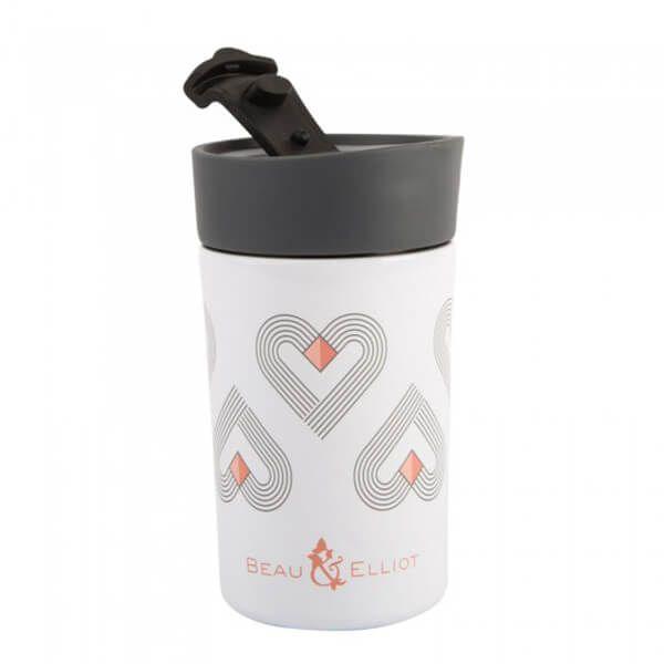 Navigate Beau & Elliot Vibe 300ml Grey Travel Mug