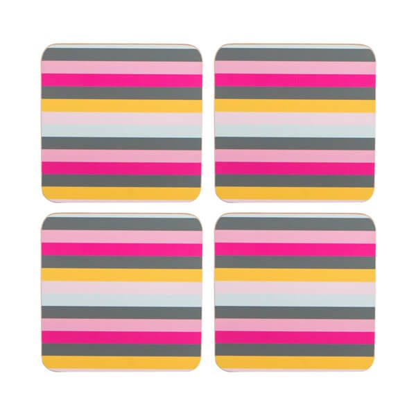 Navigate Gardenia Coasters Stripe Set of 4