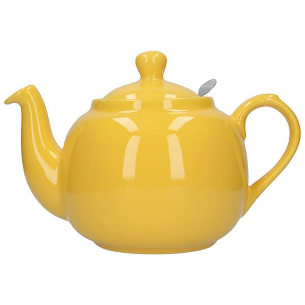 London Pottery Farmhouse Filter 6 Cup Teapot New Yellow