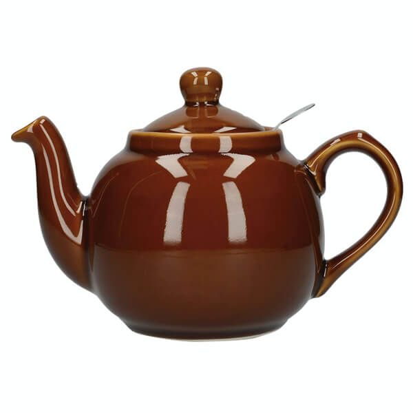 London Pottery Farmhouse Filter 6 Cup Teapot Rockingham Brown