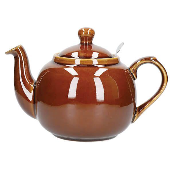 London Pottery Farmhouse Filter 6 Cup Teapot Rockingham Brown