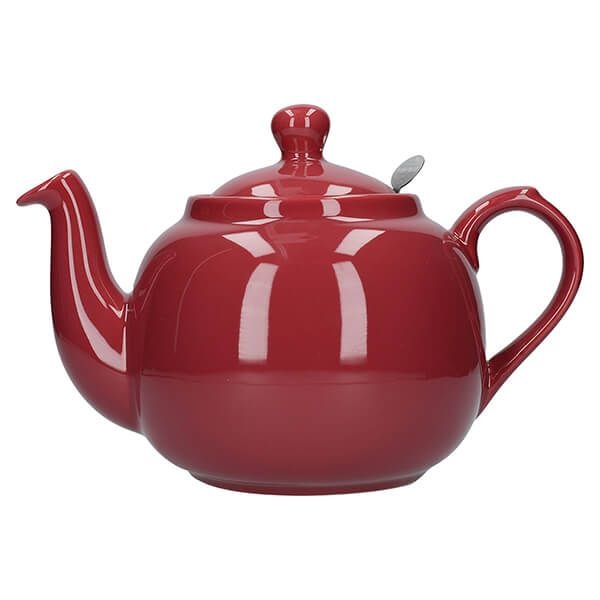 London Pottery Farmhouse Filter 6 Cup Teapot Red
