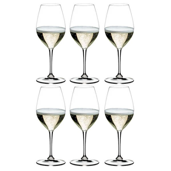Riedel Vinum Champagne Wine Glasses Set Of 6