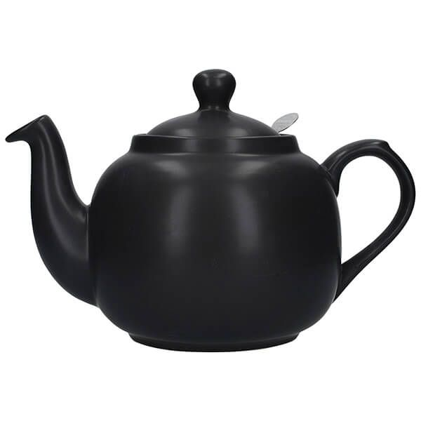London Pottery Farmhouse Filter 6 Cup Teapot Matt Black