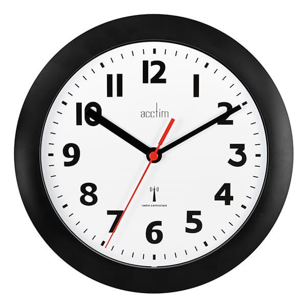 Acctim Parona Wall Clock Black