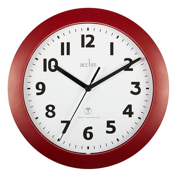 Acctim Parona Wall Clock Red