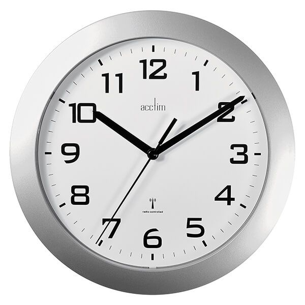 Acctim Peron Wall Clock Silver