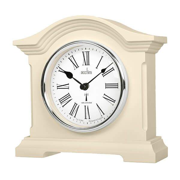 Acctim Chestfield Mantel Clock Cream