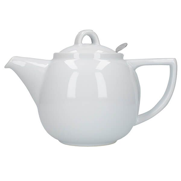 London Pottery Geo Filter 4 Cup Teapot White