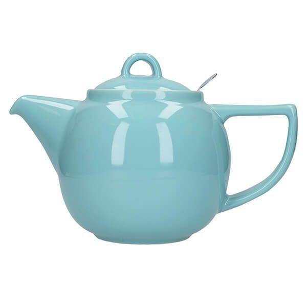London Pottery Geo Filter 4 Cup Teapot Aqua