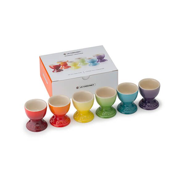 Le Creuset Rainbow Collection Set of 6 Egg Cups