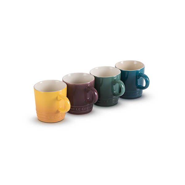 Le Creuset Botanique Stoneware Set Of 4 100ml Espresso Mugs