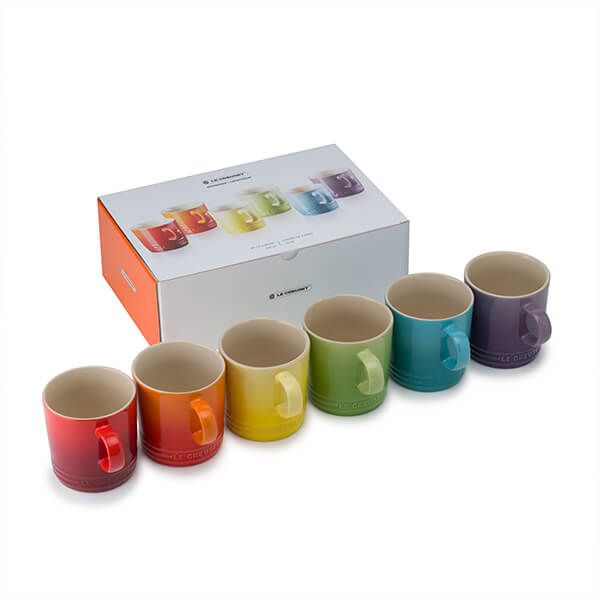 Le Creuset Rainbow Collection Set of 6 Mugs