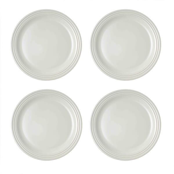 Le Creuset White Stoneware 27cm Dinner Plates Set Of 4