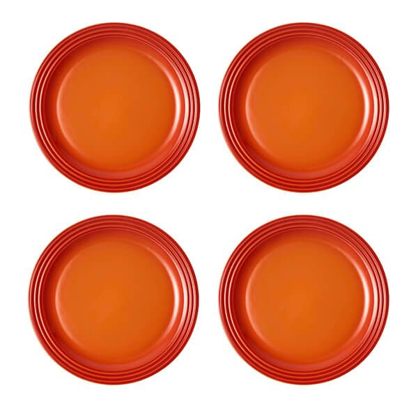 Le Creuset Volcanic Stoneware 27cm Dinner Plates Set Of 4