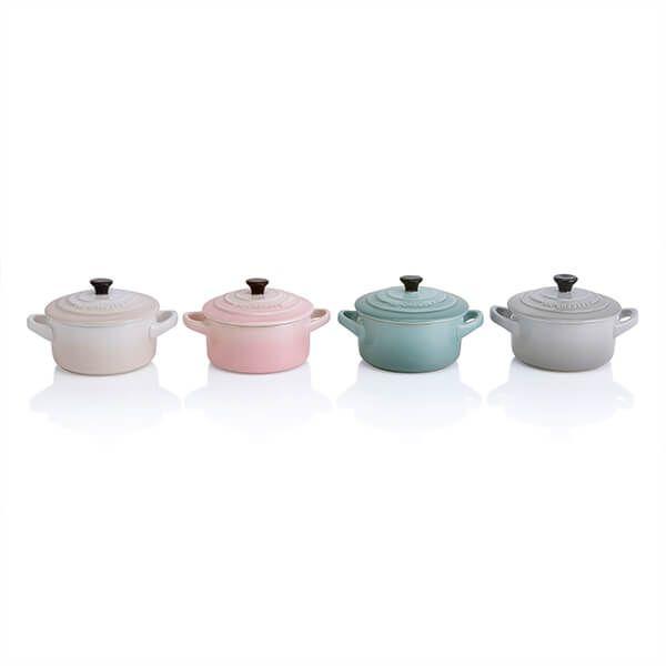 Le Creuset Calm Collection Set of 4 Petite Round Casseroles