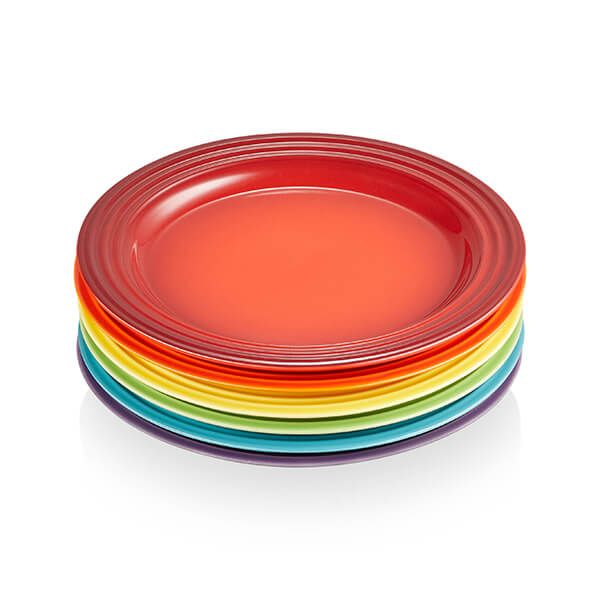 Le Creuset Rainbow Set of 6 22cm Side Plates