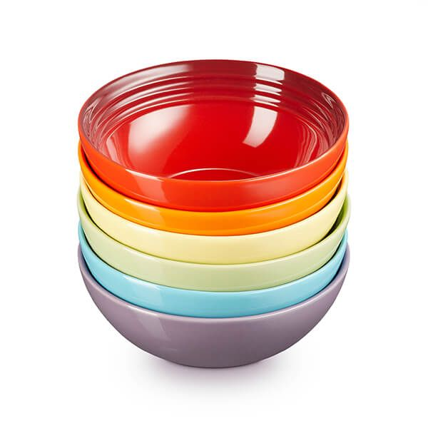 Le Creuset Rainbow Set of 6 Cereal Bowls