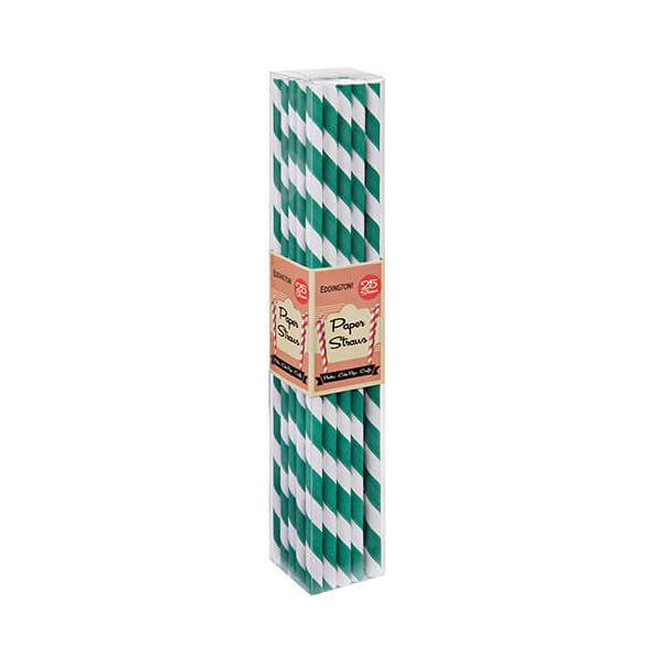 Eddingtons Paper Straws Green 25 Pack