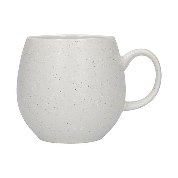 London Pottery Pebble Mug Matt Speckled White