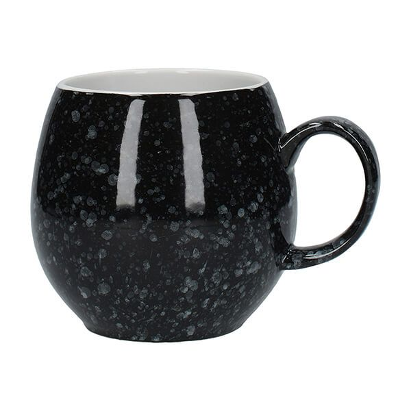 London Pottery Pebble Mug Gloss Black Flecked