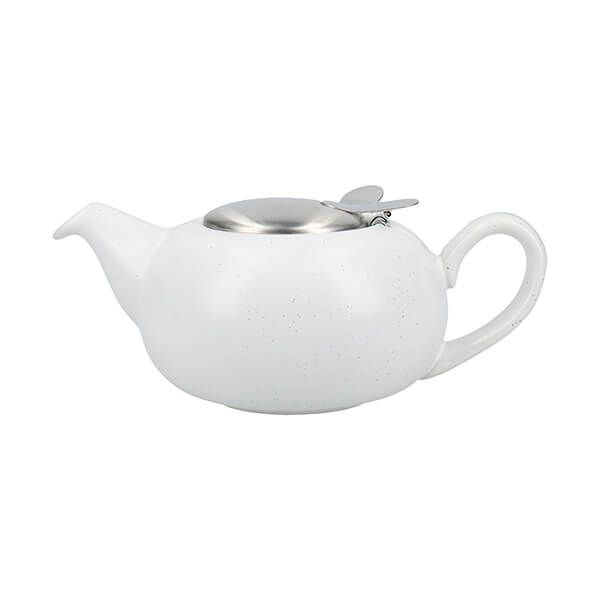 London Pottery Pebble Filter 2 Cup Teapot Matt White