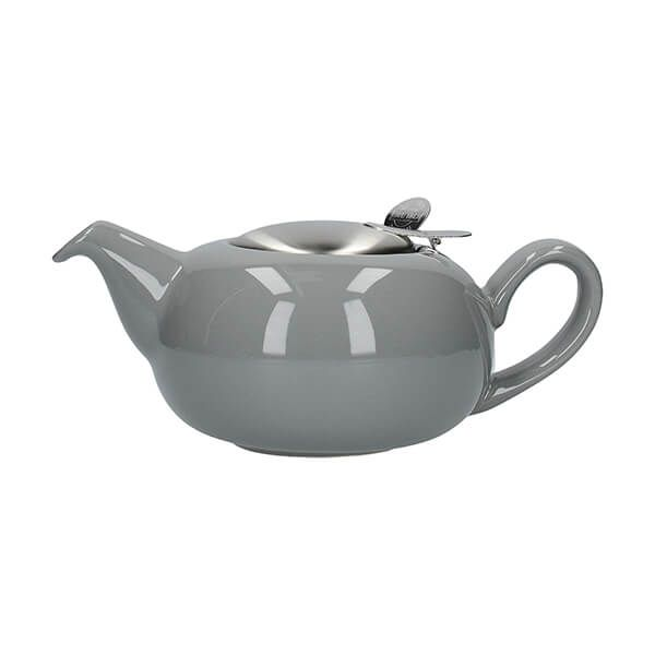 London Pottery Pebble Filter 2 Cup Teapot Light Grey
