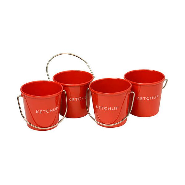 Eddingtons Ranch Ketchup Buckets Set Of 4