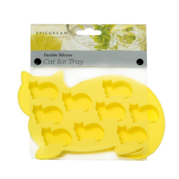 Epicurean Barware Yellow Cat Ice Cube Tray