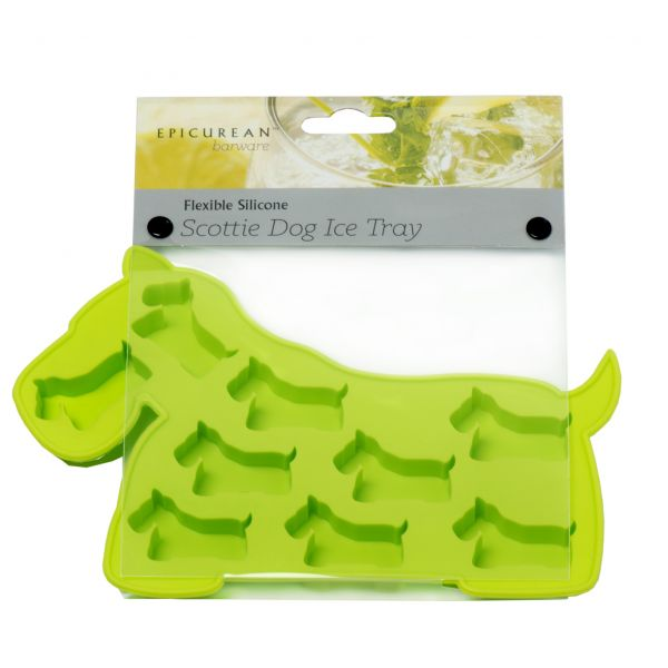 Epicurean Barware Green Scottie Dog Ice Cube Tray
