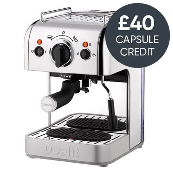 Dualit 3 In 1 Coffee Machine Polished Stainless Steel With Free £40 Capsule Credit