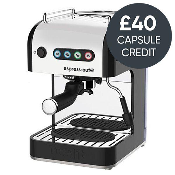 Dualit Espress-auto 4 IN 1 Coffee & Tea Machine Black With Free £40 Capsule Credit