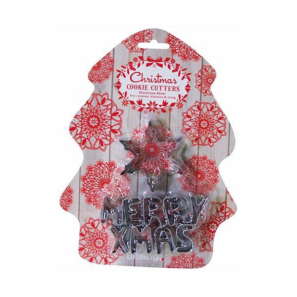 Eddingtons Merry Xmas 10 Piece Cookie Cutter Set