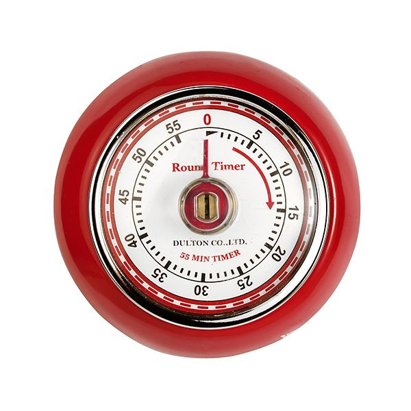 Eddingtons Retro Magnetic Timer Red