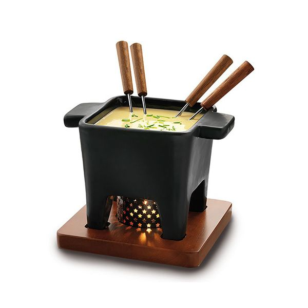 Boska Tapas Fondue Black 400ml Dark Wood
