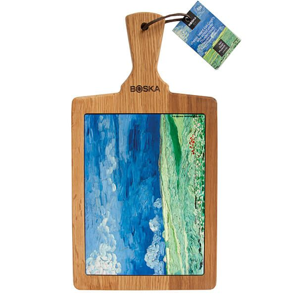 Boska Van Gogh Wheatfield under Thunderclouds Serving Board