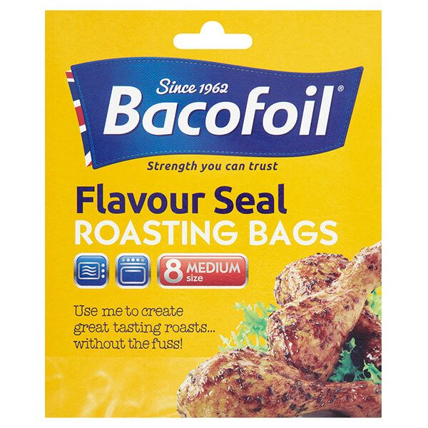 Bacofoil Set of 8 Medium Flavour Seal Roasting Bags